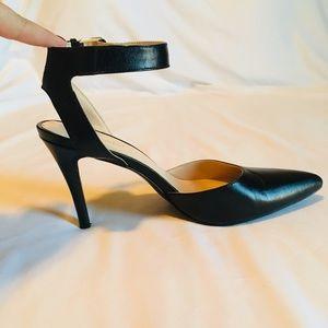 Nine West Ackley Ankle Strap Pumps - Leather - 8.5